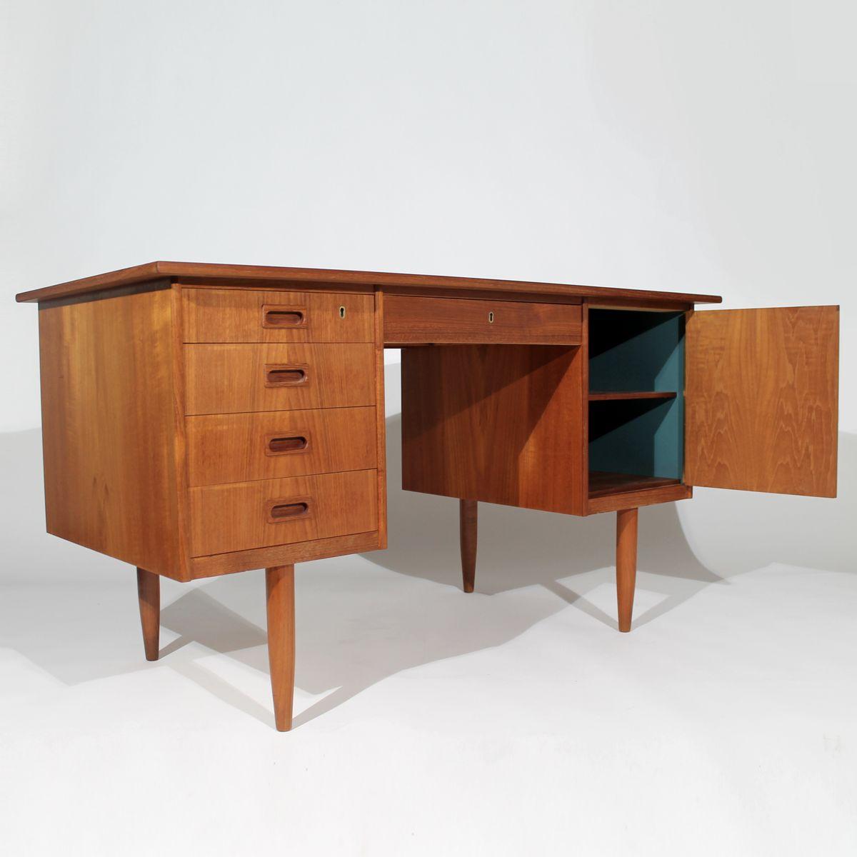 D nischer teak schreibtisch 1960er bei pamono kaufen for Schreibtisch 2 50 meter