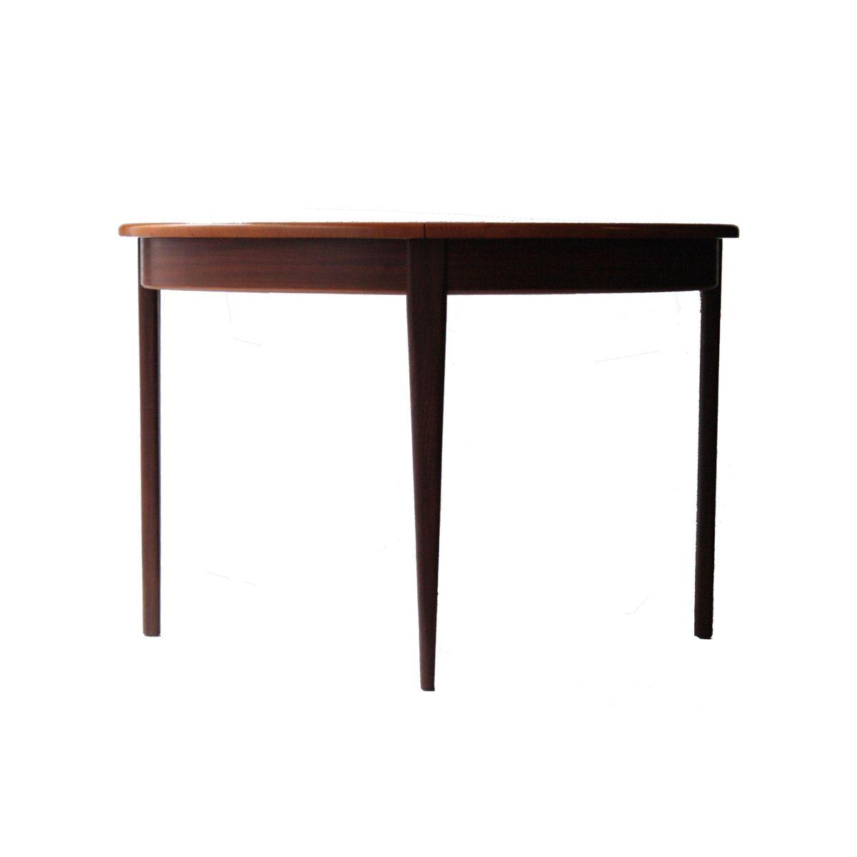 table de salle manger ronde extensible en palissandre. Black Bedroom Furniture Sets. Home Design Ideas