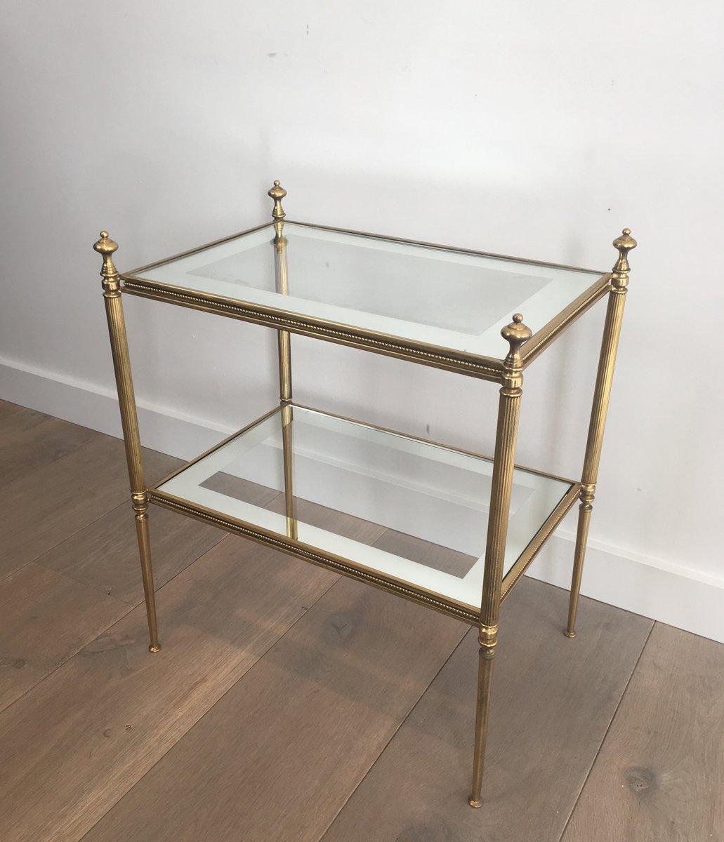 vintage regale aus glas messing 2er set bei pamono kaufen. Black Bedroom Furniture Sets. Home Design Ideas