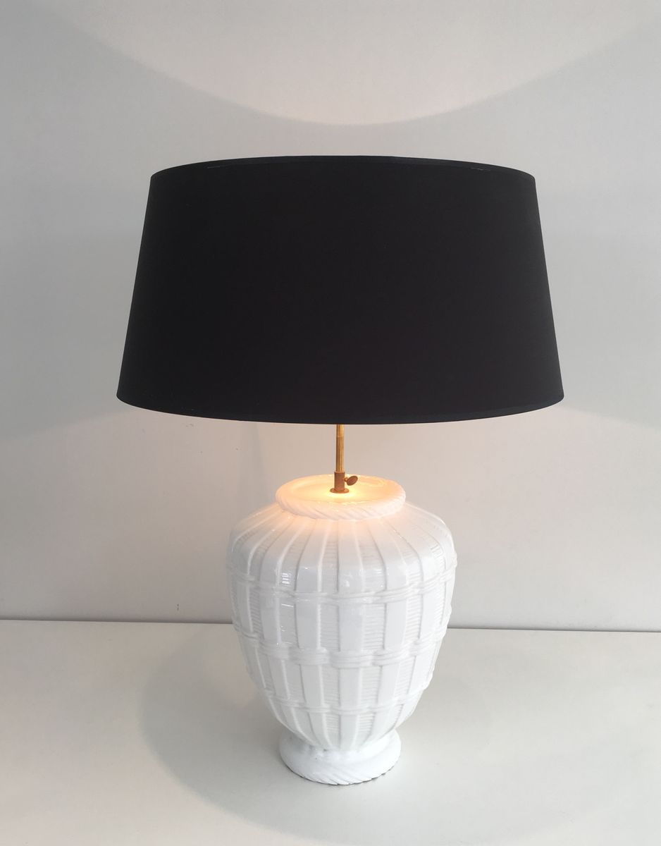 vintage white ceramic table lamp for sale at pamono. Black Bedroom Furniture Sets. Home Design Ideas