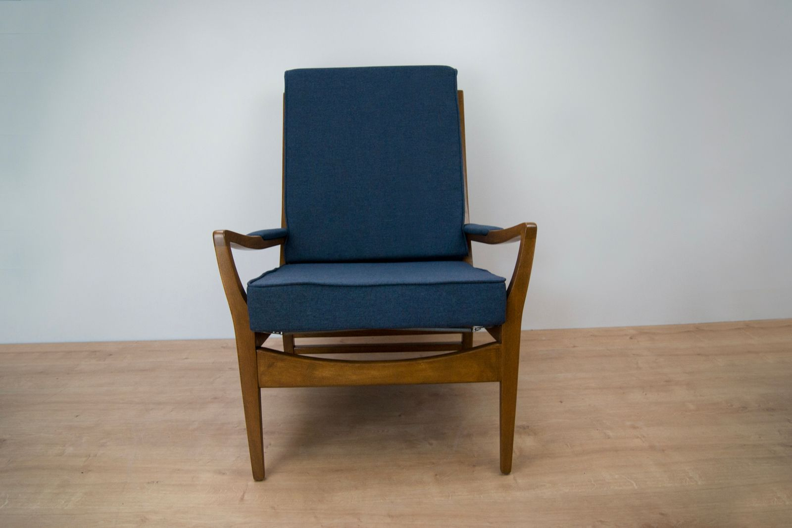 Vintage navy blue armchair from parker knoll 1960s set of 2