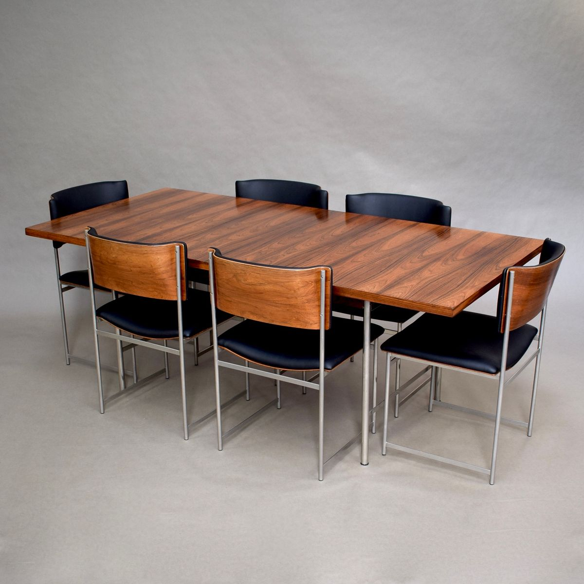 Brazilian Rosewood SM08 Dining Set By Cees Braakman For Pastoe, 1950s