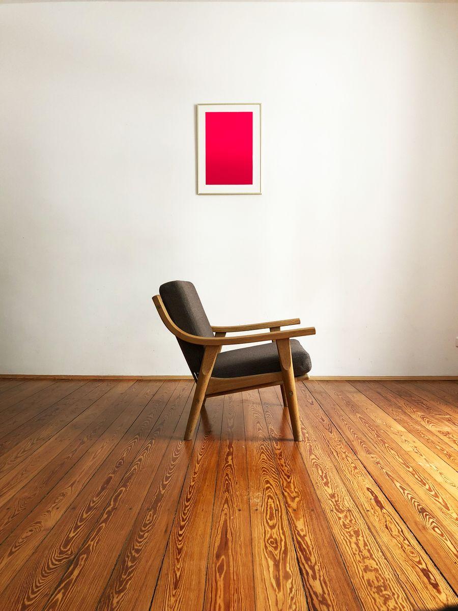 mid century eichenholz 530 sessel von hans j wegner f r getama bei pamono kaufen. Black Bedroom Furniture Sets. Home Design Ideas