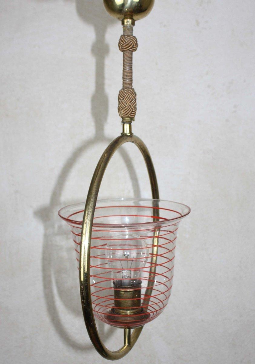 lampe suspension art d co en laiton 1930s en vente sur pamono. Black Bedroom Furniture Sets. Home Design Ideas