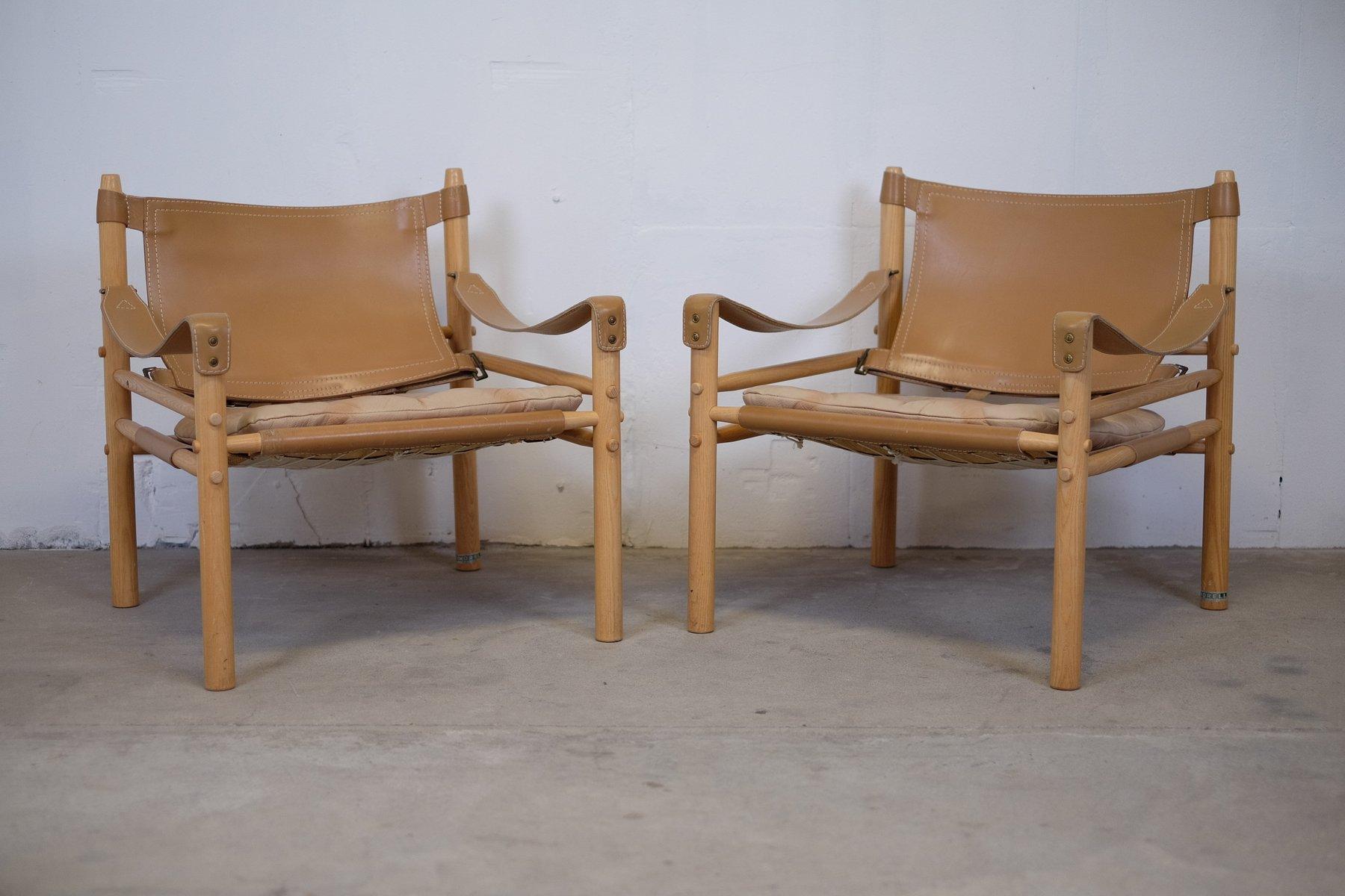 Sirocco Safari Stühle von Arne Norell für Aneby Mobler, 1960er