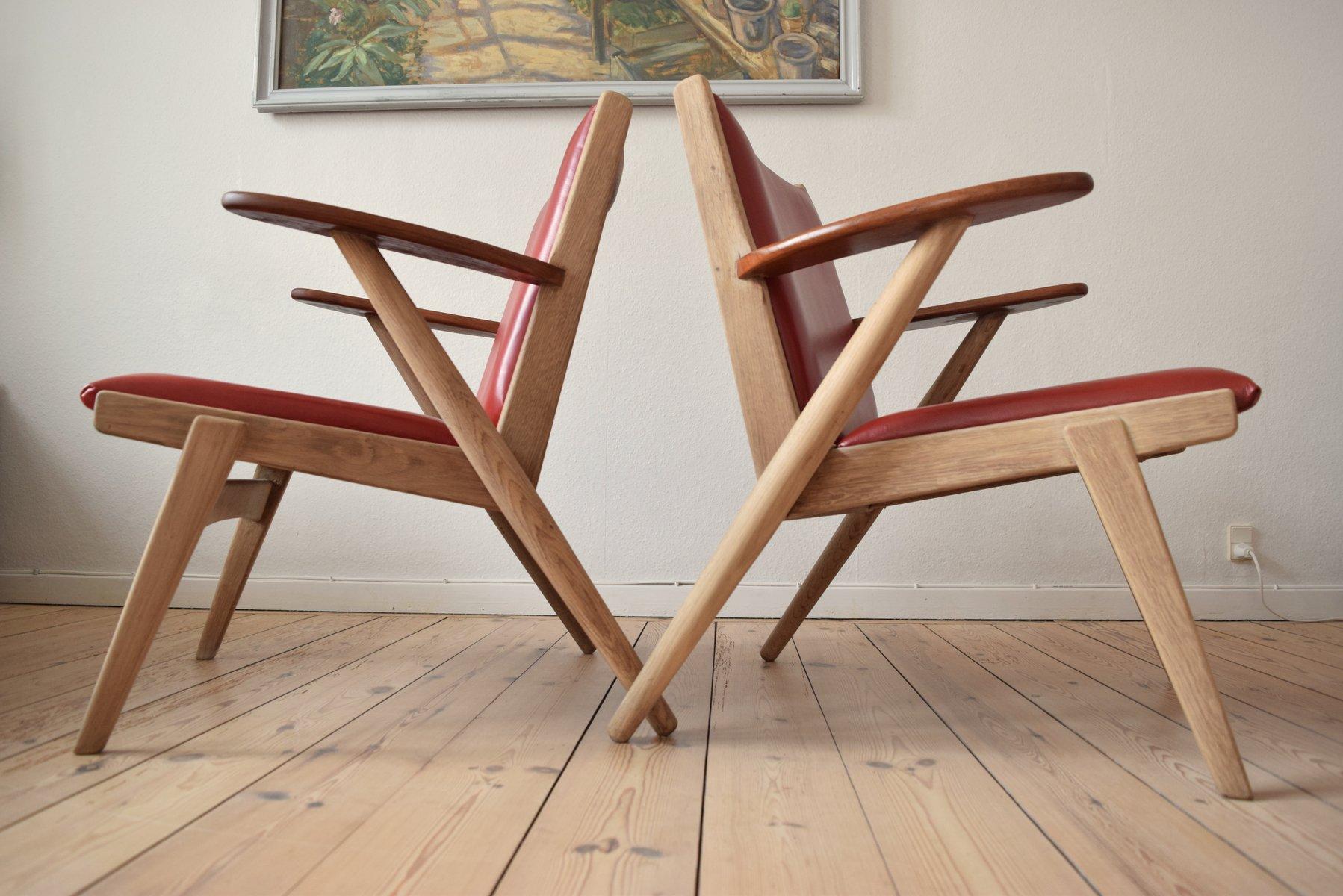 nr 14 sessel von arne wahl iversen f r hans hansen sons 1950er bei pamono kaufen. Black Bedroom Furniture Sets. Home Design Ideas