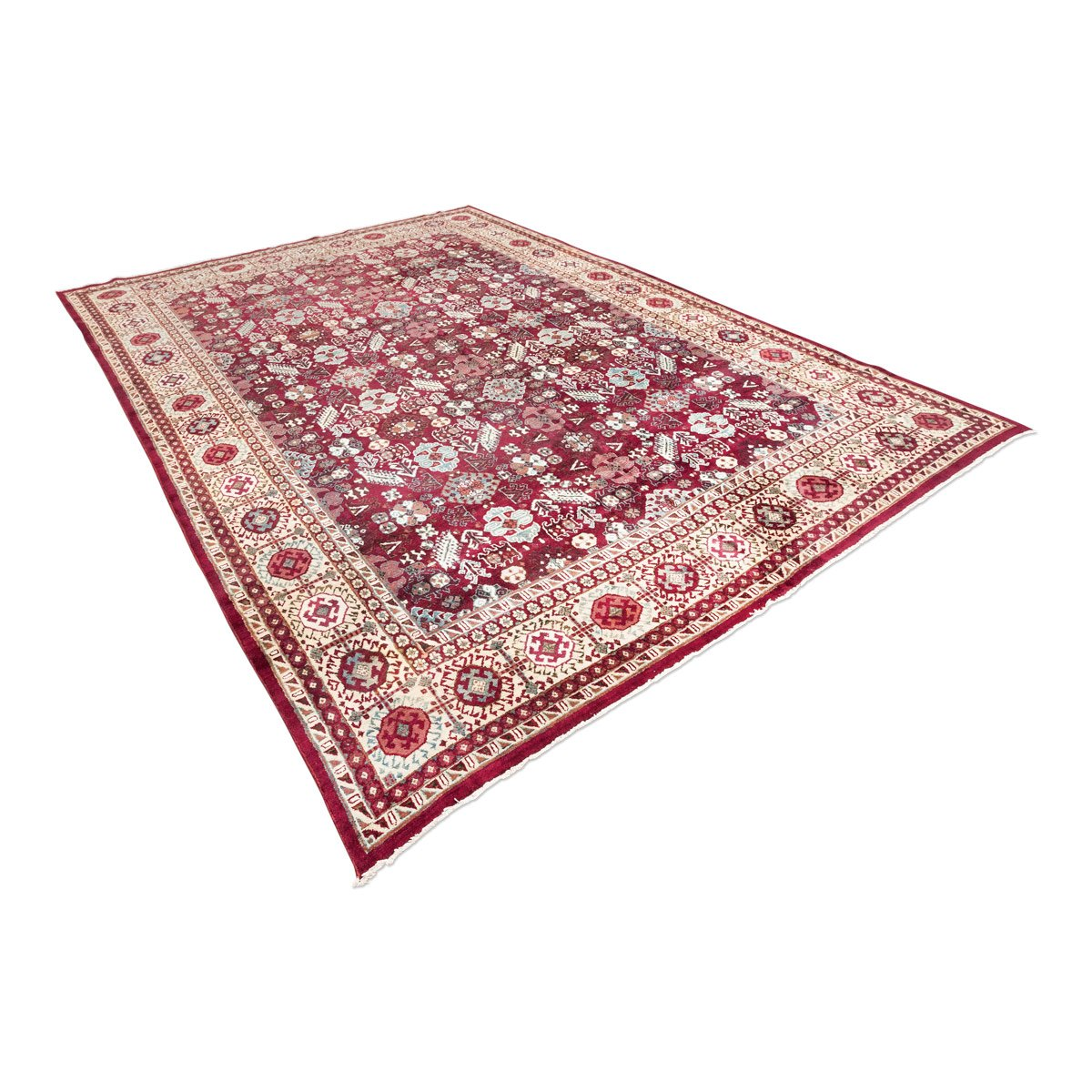 Antique Indian Agra Rug With Palmettes For Sale At Pamono