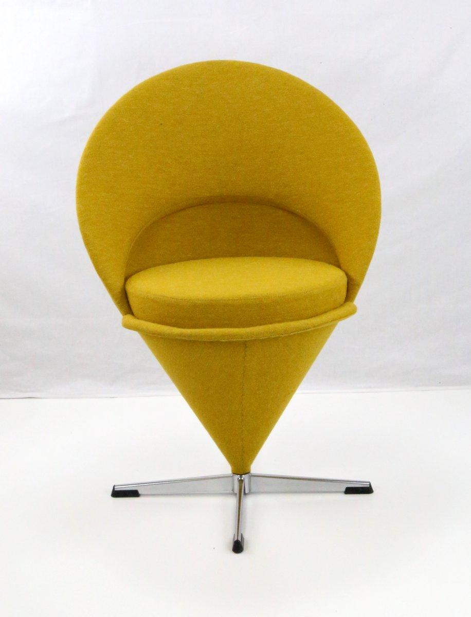 mid century cone chair von verner panton bei pamono kaufen. Black Bedroom Furniture Sets. Home Design Ideas