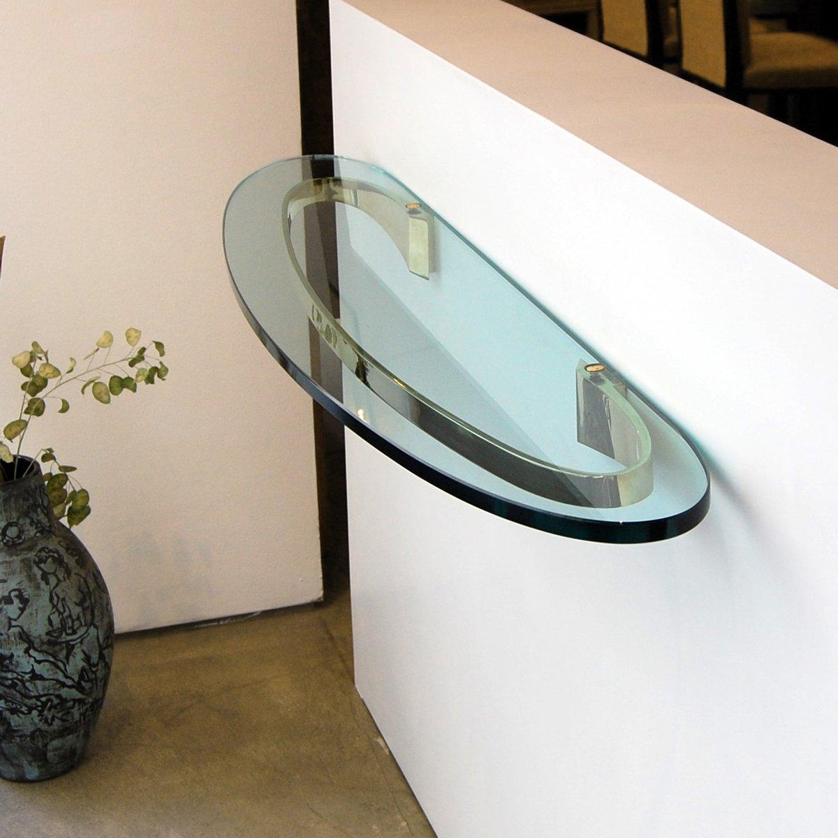 mid century modell 2186 glas konsole von fontana arte bei pamono kaufen. Black Bedroom Furniture Sets. Home Design Ideas