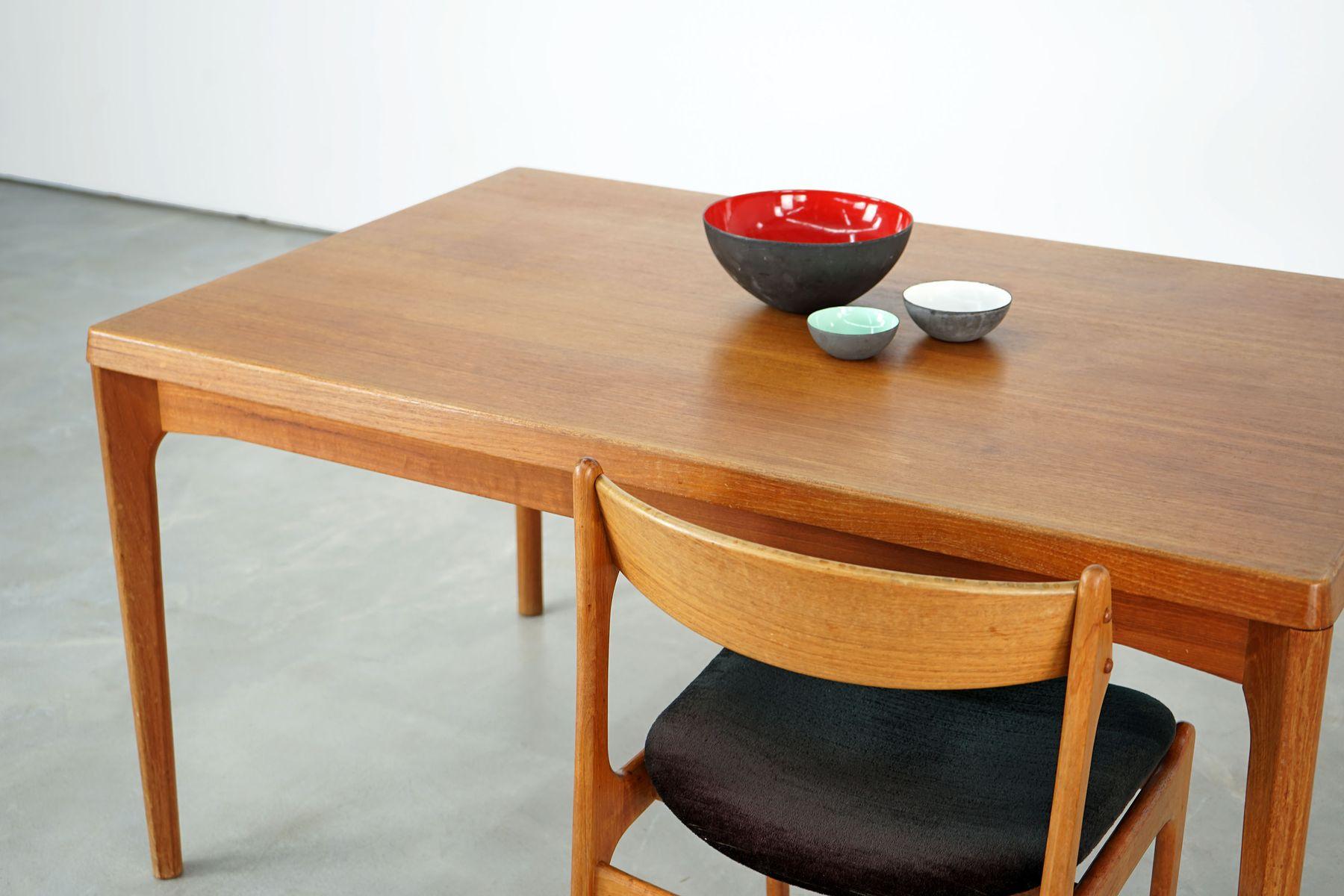 gro er esstisch von henning kjaernulf f r vejle m belfabrik 1960er bei pamono kaufen. Black Bedroom Furniture Sets. Home Design Ideas