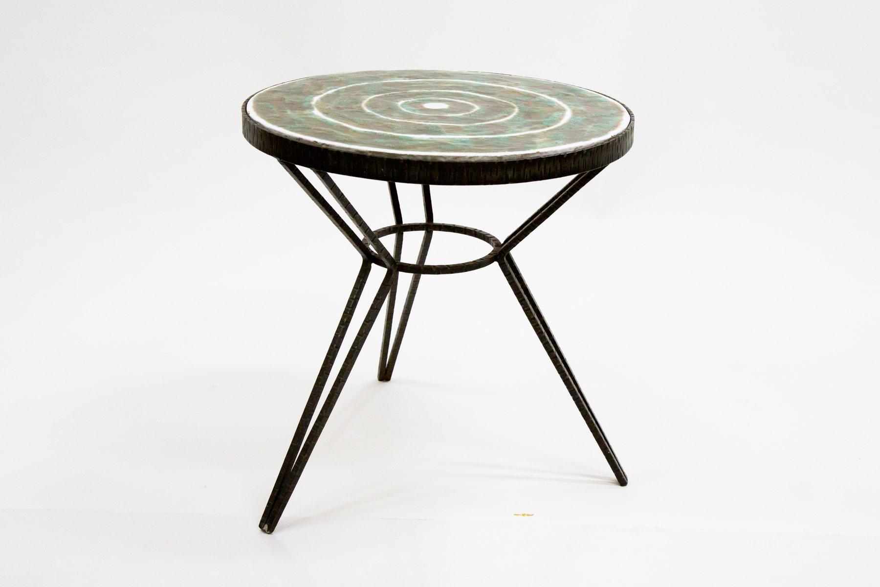 Couchtisch mit Keramik Tischplatte, 1970er