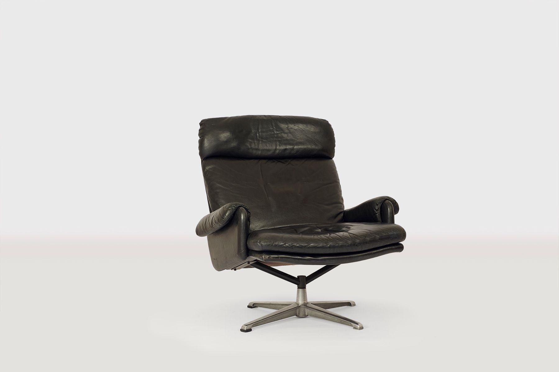 Schwarzer Ledersessel, 1970er