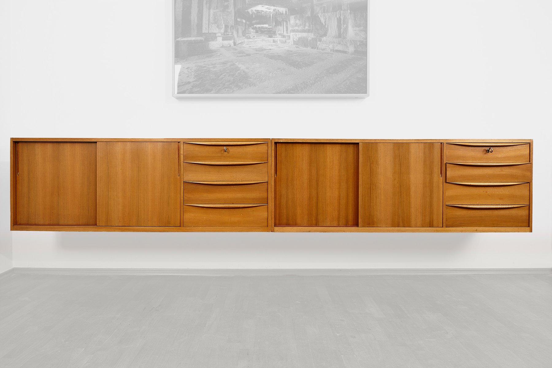 Hängende Sideboards von WK Möbel, 1960er, 2er Set