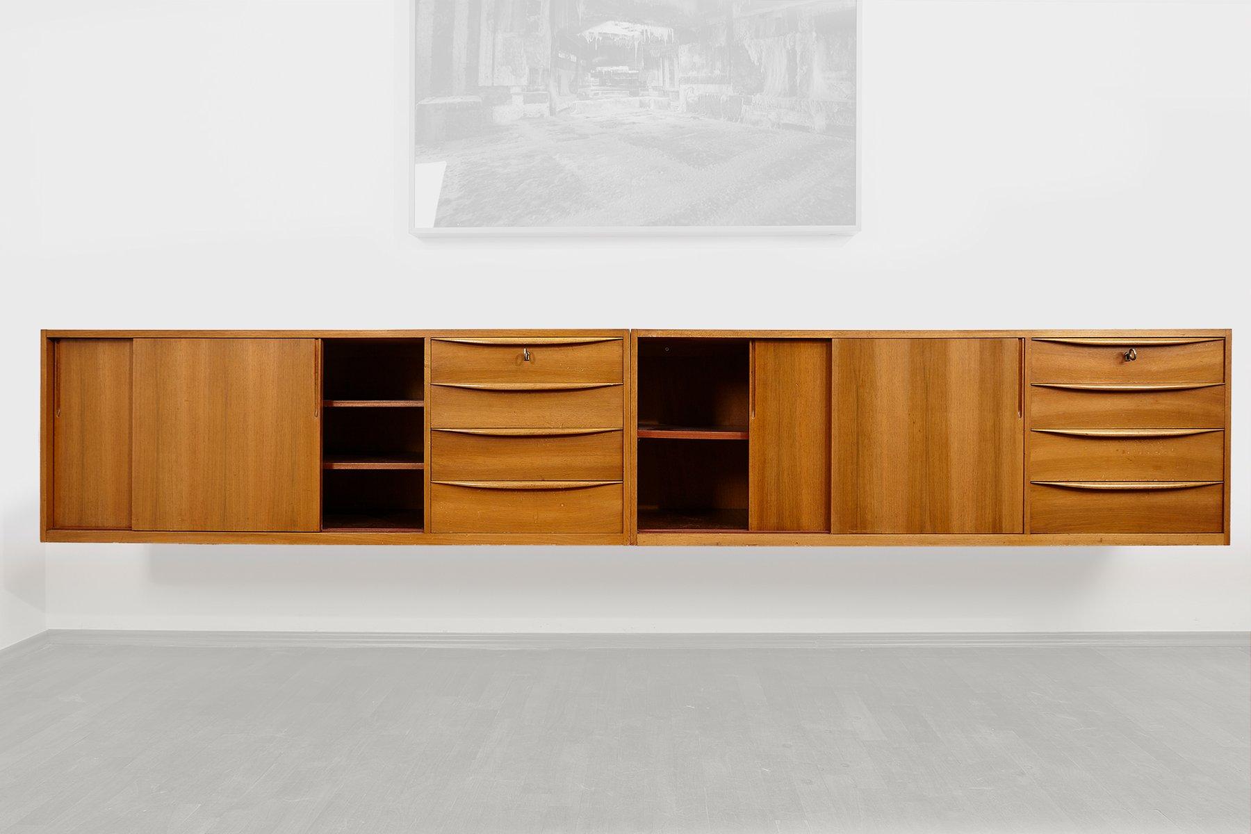 Hängende Sideboards von WK Möbel, 1960er, 2er Set bei Pamono kaufen