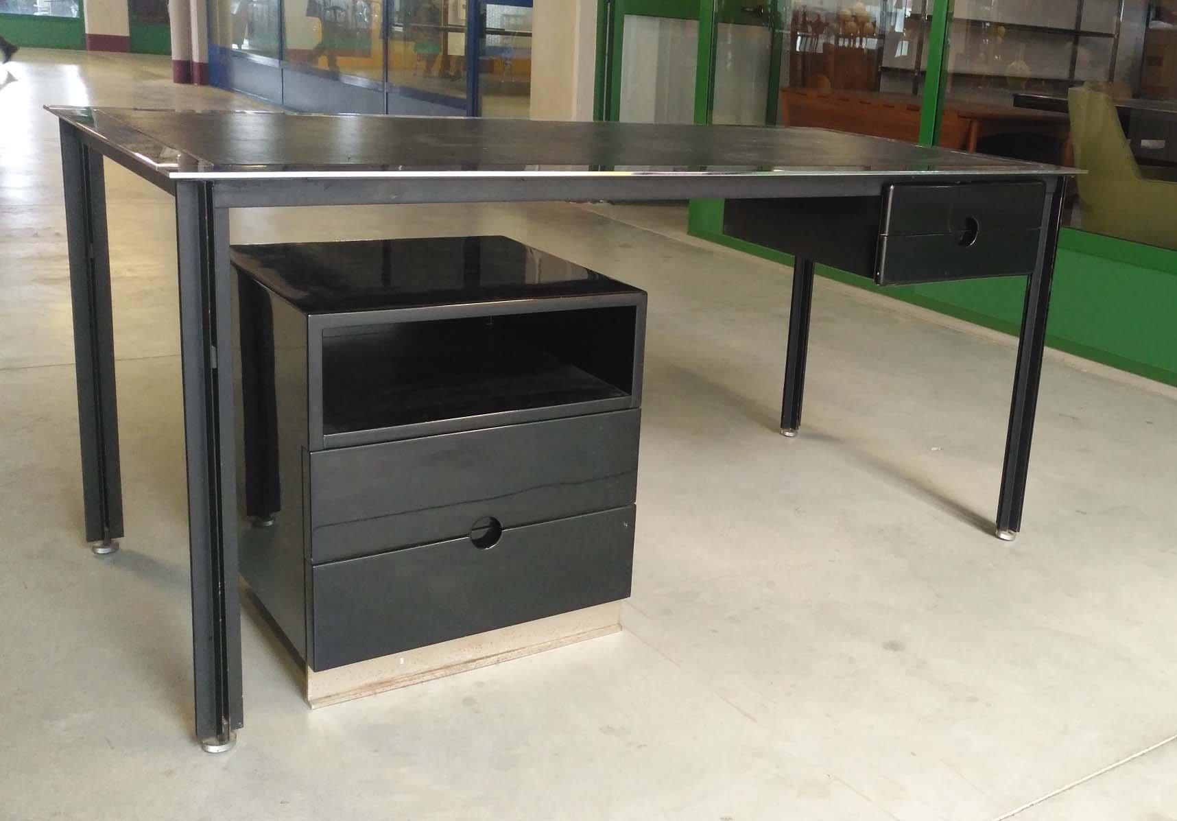 schreibtisch von caccia dominioni f r azucena 1960er bei pamono kaufen. Black Bedroom Furniture Sets. Home Design Ideas