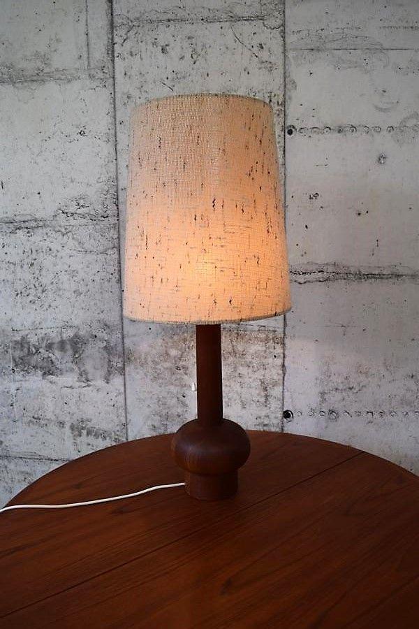 Dänische Tischlampe aus massivem Teakholz, 1950er