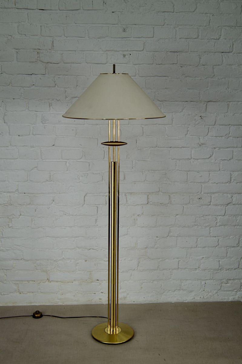 Vergoldete Vintage Messing Stehlampe von Bankamp Leuchten, 1970er