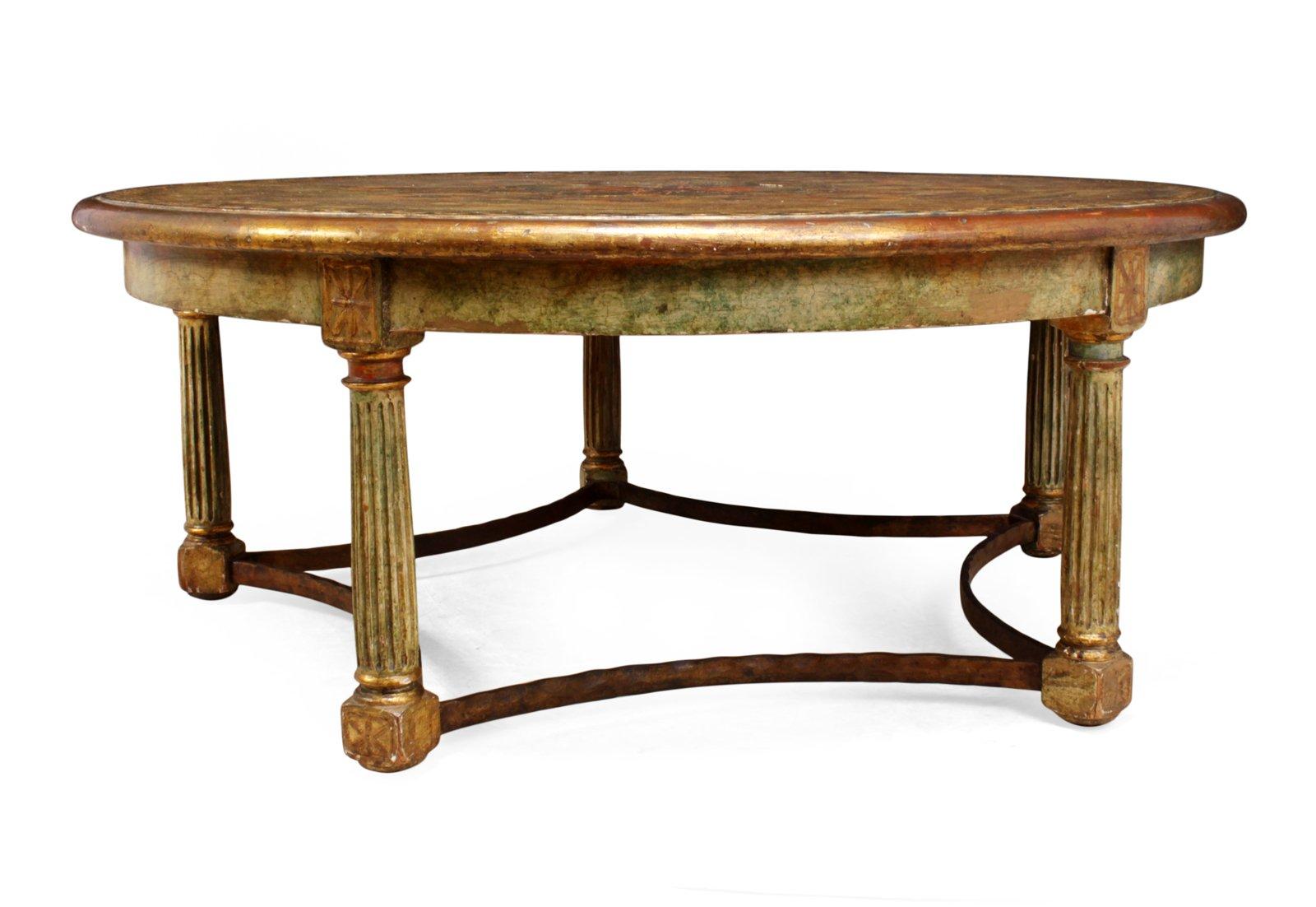 Table basse gesso peinte italie 1880s en vente sur pamono - Table basse peinte ...