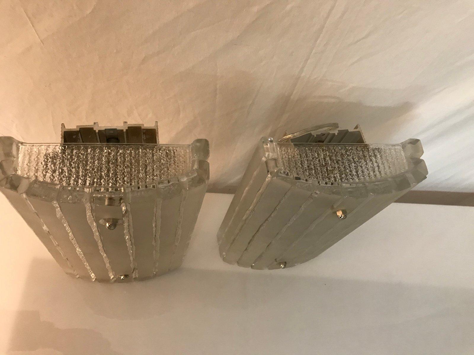 Lampade da parete mid century moderne italia set di 2 in vendita
