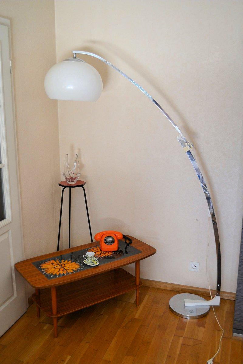 lampadaire arc vintage par goffredo reggiani pour studio reggiani 1960s en vente sur pamono. Black Bedroom Furniture Sets. Home Design Ideas