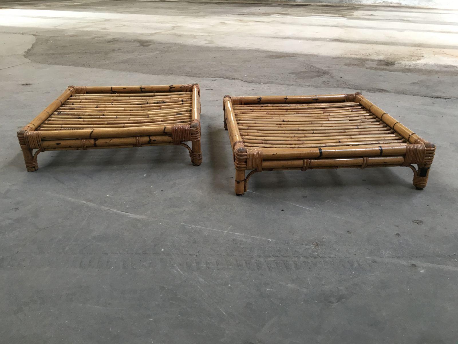 Italienischer bambus couchtisch 1970er bei pamono kaufen - Couchtisch bambus ...