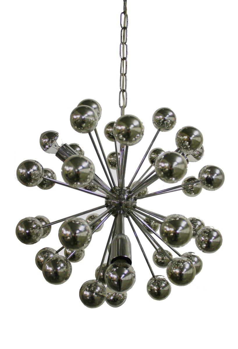 Vintage Chrom Sputnik Kronleuchter, 1960er