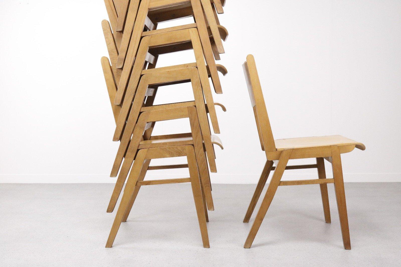 Stapelbarer mid century stuhl aus schichtholz 1960er bei pamono kaufen - Mid century stuhl ...