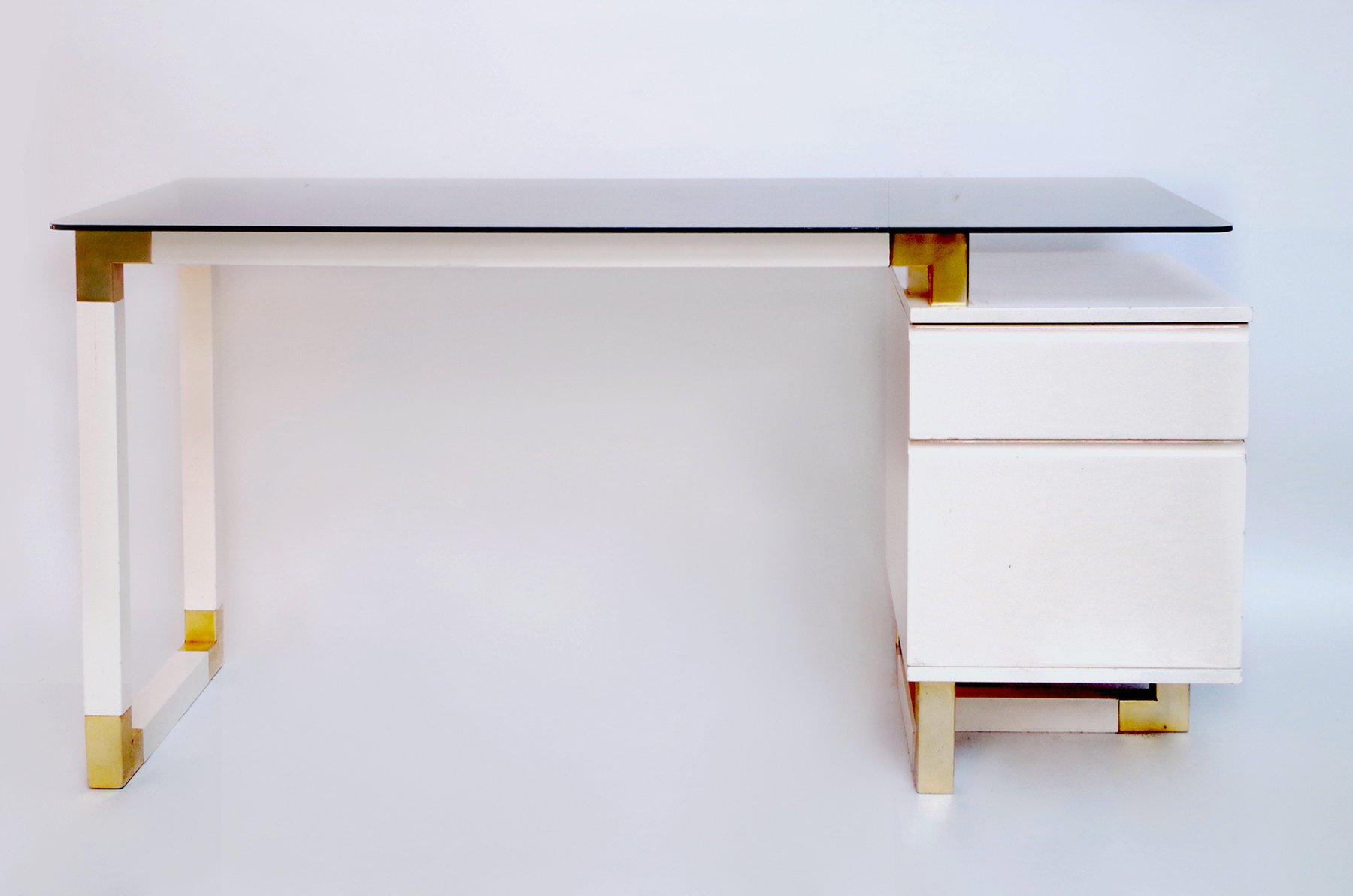 Vintage White-Lacquered Desk, 1970s For Sale At Pamono