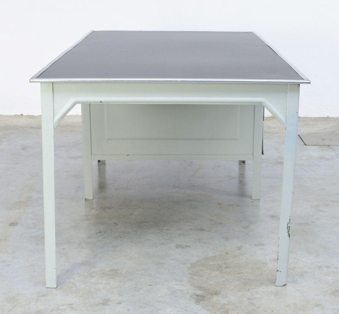 bureau vintage industriel en m tal par otto kind en vente sur pamono. Black Bedroom Furniture Sets. Home Design Ideas