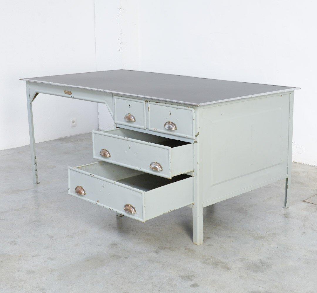 industrieller vintage metall schreibtisch von otto kind bei pamono kaufen. Black Bedroom Furniture Sets. Home Design Ideas
