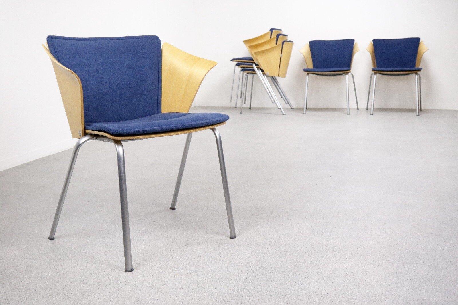 chaise d 39 appoint mod le vm3 par vico magistretti pour fritz hansen 1990s en vente sur pamono. Black Bedroom Furniture Sets. Home Design Ideas