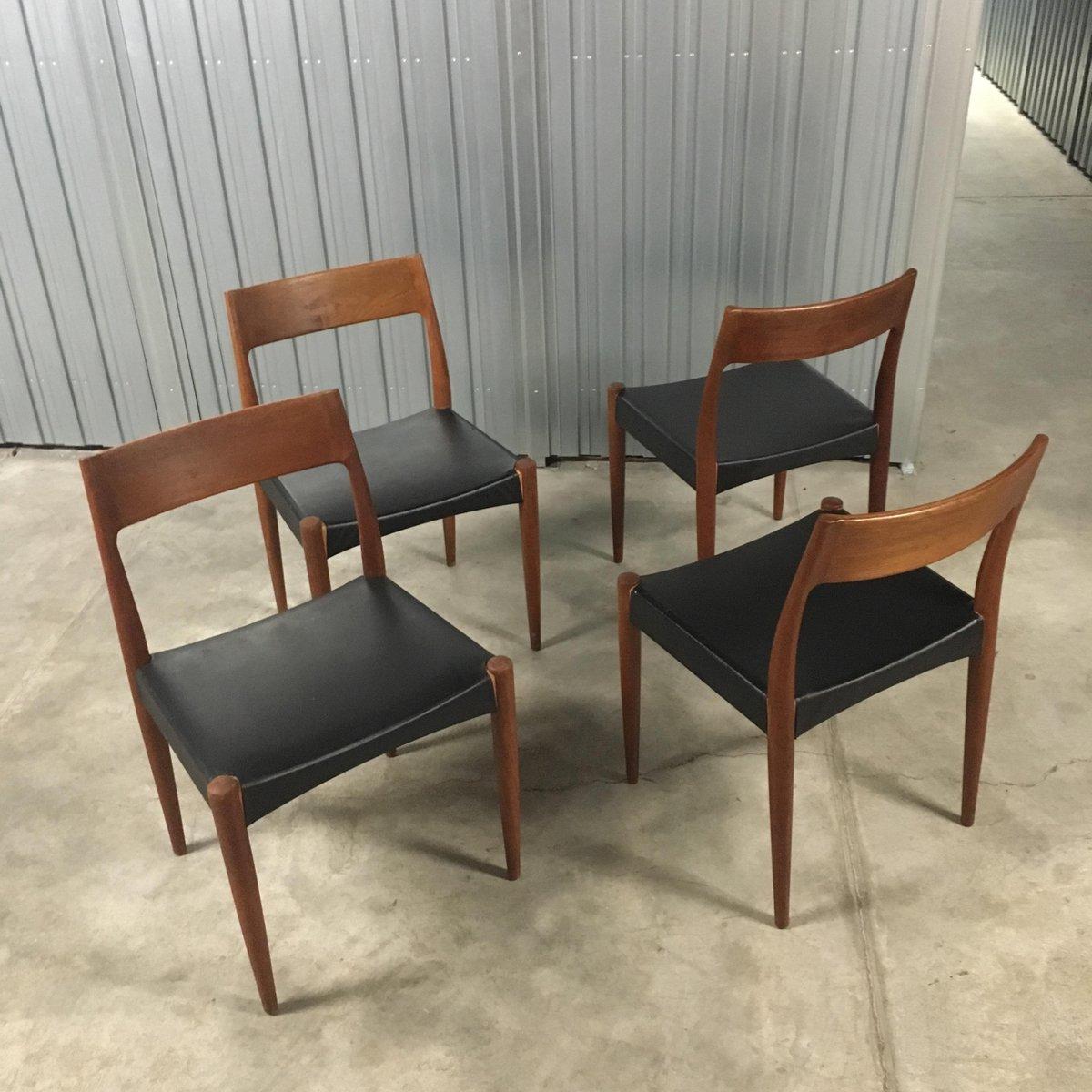 d nisches teak esszimmer set von arne hovmand olsen f r mogens kold 1950er bei pamono kaufen. Black Bedroom Furniture Sets. Home Design Ideas