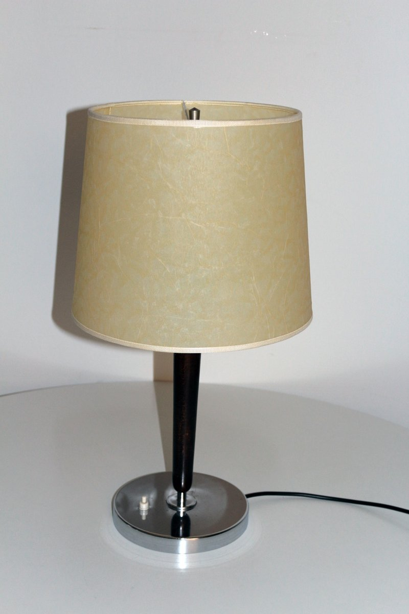 Art Deco Chrom Tischlampe, 1930er