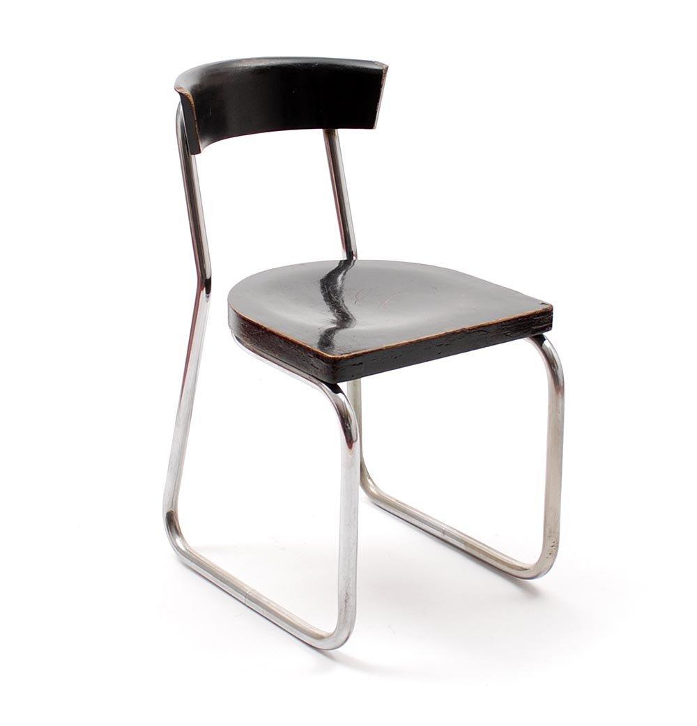 Model B257 Tubular Chair From Thonet, 1930s