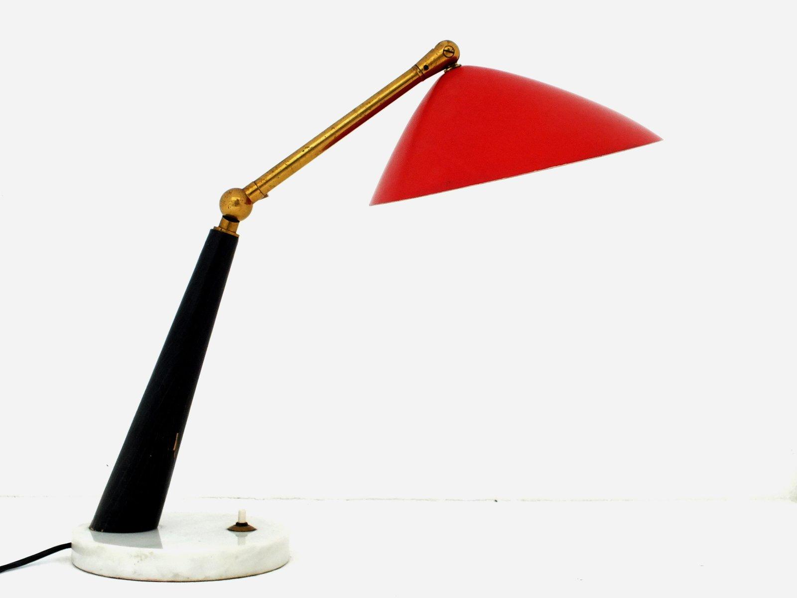 Italienische Mid-Century Schreibtischlampe von Stilux