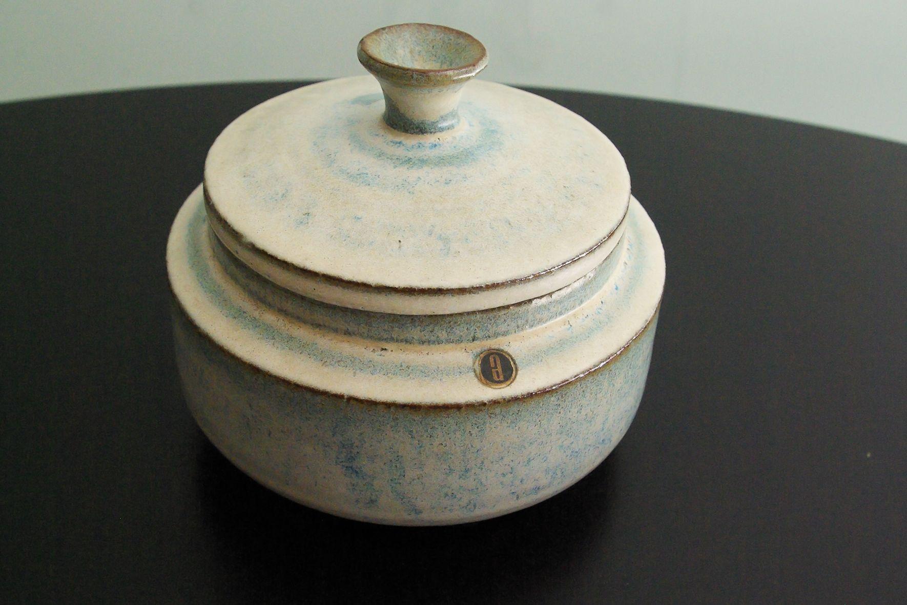 Vintage Belgische Keramik Lidded Pot von Rogier...