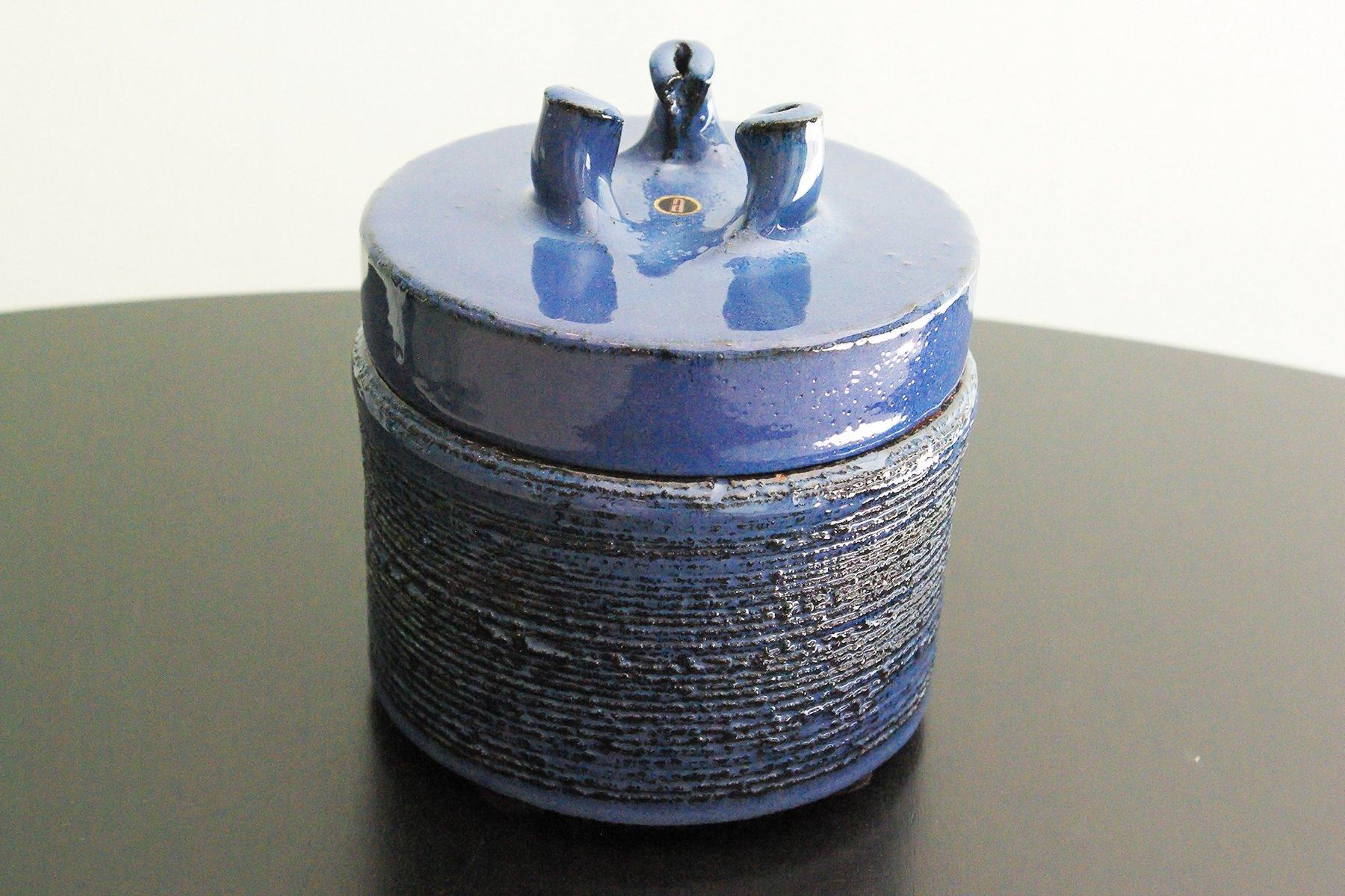 Vintage Keramik Topf mit Deckel von Rogier Vand...