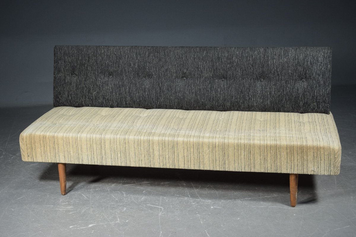 Mid Century Danish Convertible Sofa