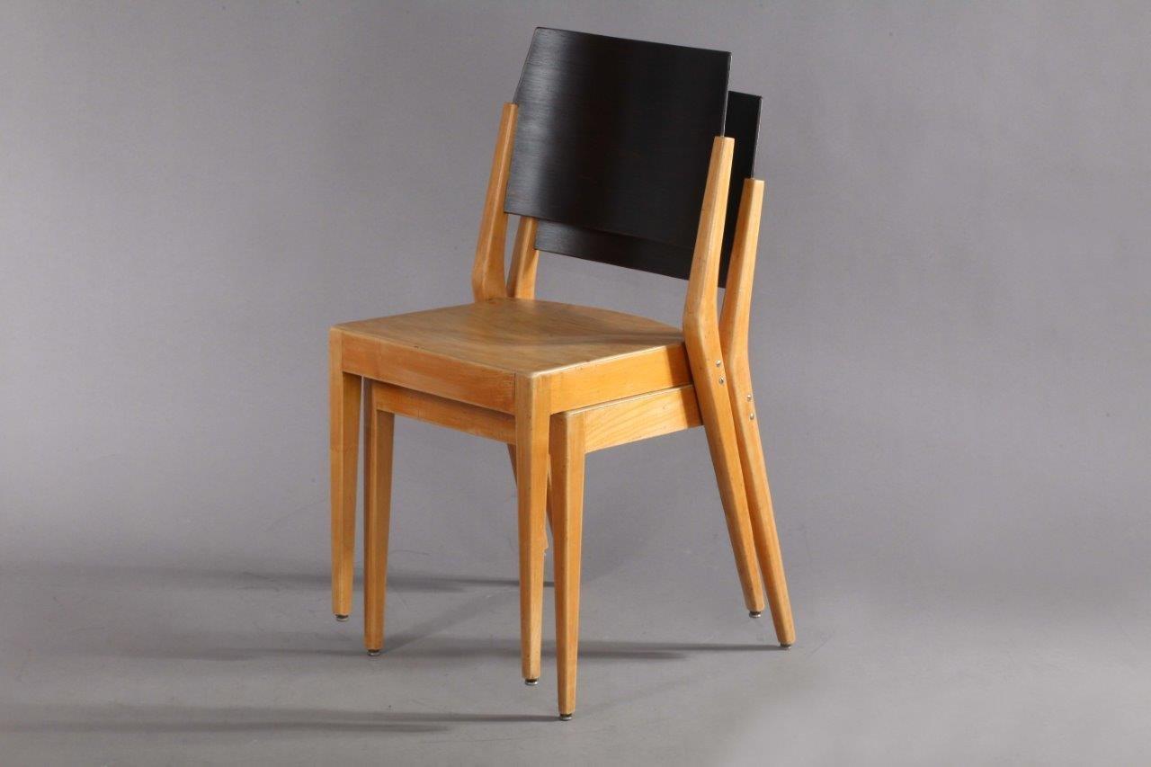 sterreichischer stapelstuhl von karl schwanzer f r thonet 1950er bei pamono kaufen. Black Bedroom Furniture Sets. Home Design Ideas