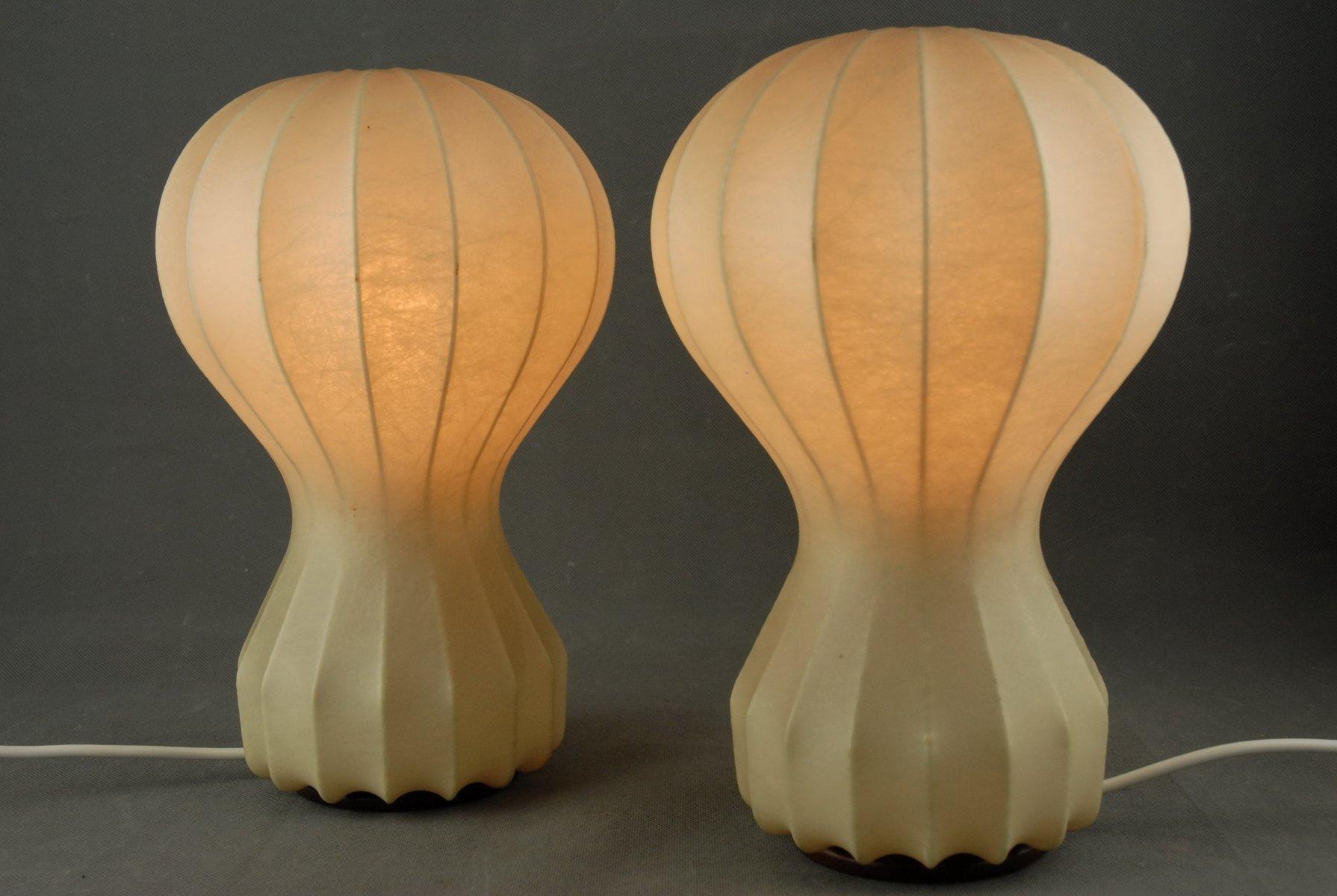 Gatto Piccolo Cocoon Tischlampen von Achille Castiglioni für Flos, 196...