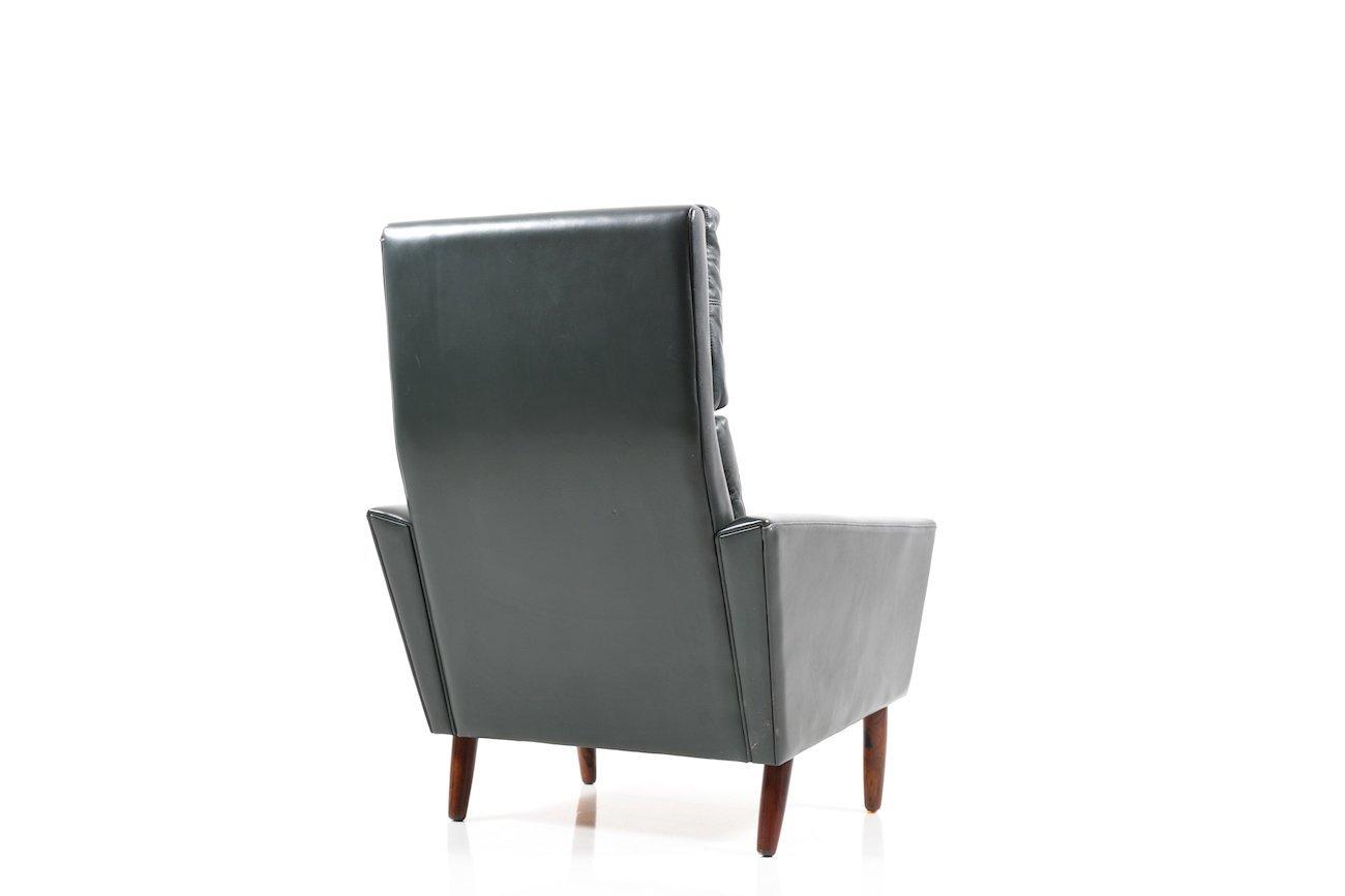 Danish Dark Green Leather Lounge Chair 1960s  sc 1 st  Pamono & Danish Dark Green Leather Lounge Chair 1960s for sale at Pamono