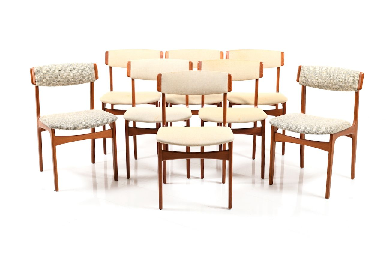 Vintage Danish Dining Chairs From Thorsø Stolefabrik Set Of 8