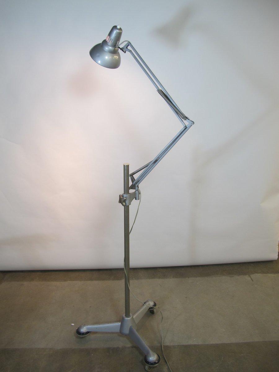 Vintage Gelenk Stehlampe auf Rollen von ASEA, 1950er
