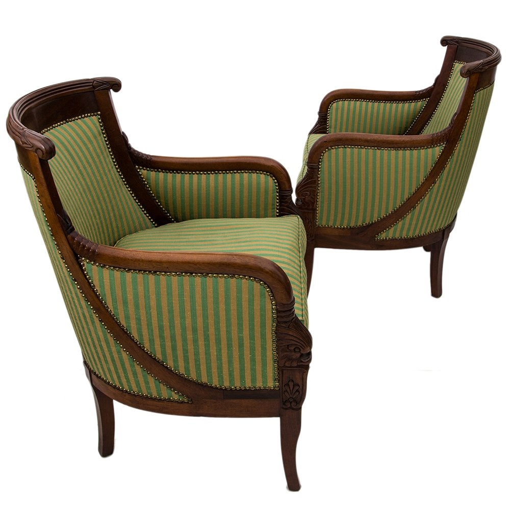 antike empire sessel 2er set bei pamono kaufen. Black Bedroom Furniture Sets. Home Design Ideas