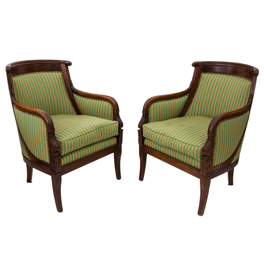 Delicieux Antique Empire Chairs, Set Of 2