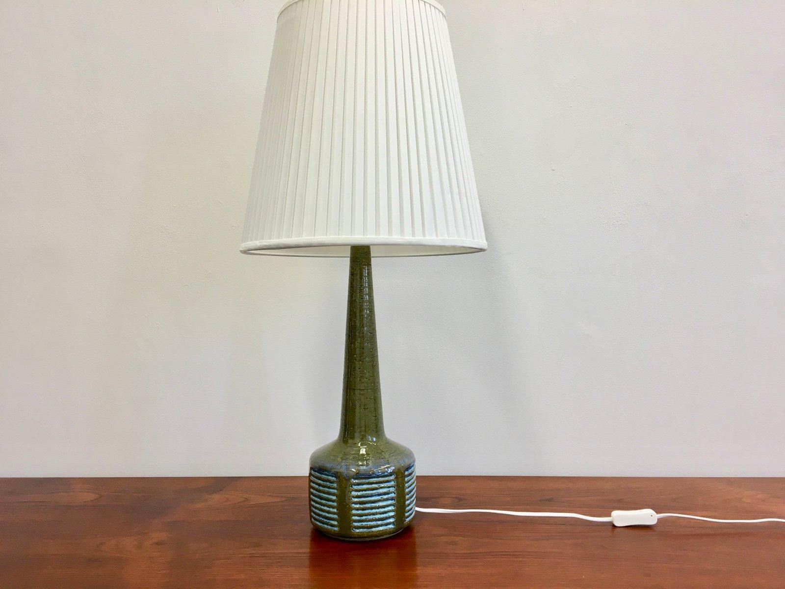 lampe de bureau mid century en c ramique verte par per linnemann schmidt pour palshus danemark. Black Bedroom Furniture Sets. Home Design Ideas