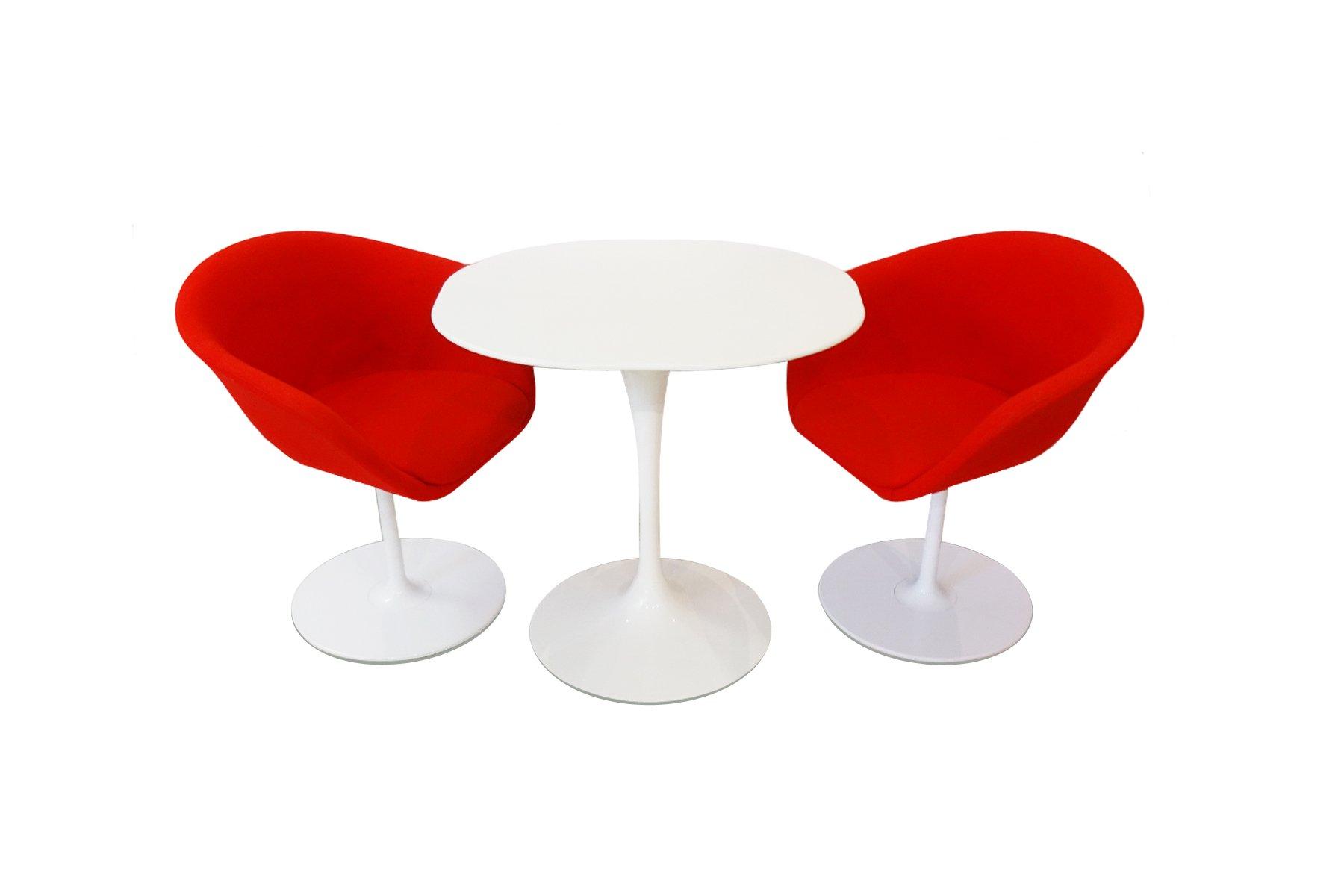 beistelltisch von eero saarinen f r knoll 2 st hle von arper und teppich 1980er bei pamono kaufen. Black Bedroom Furniture Sets. Home Design Ideas