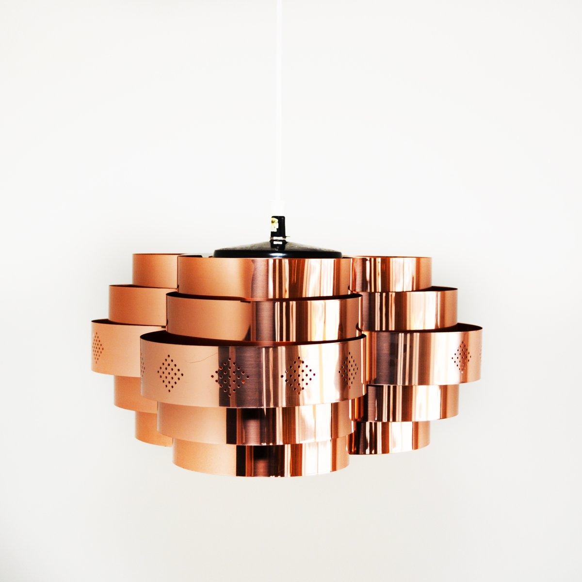 Dänische Mid-Century Deckenlampe von Werner Schou für Coronell Elektro...