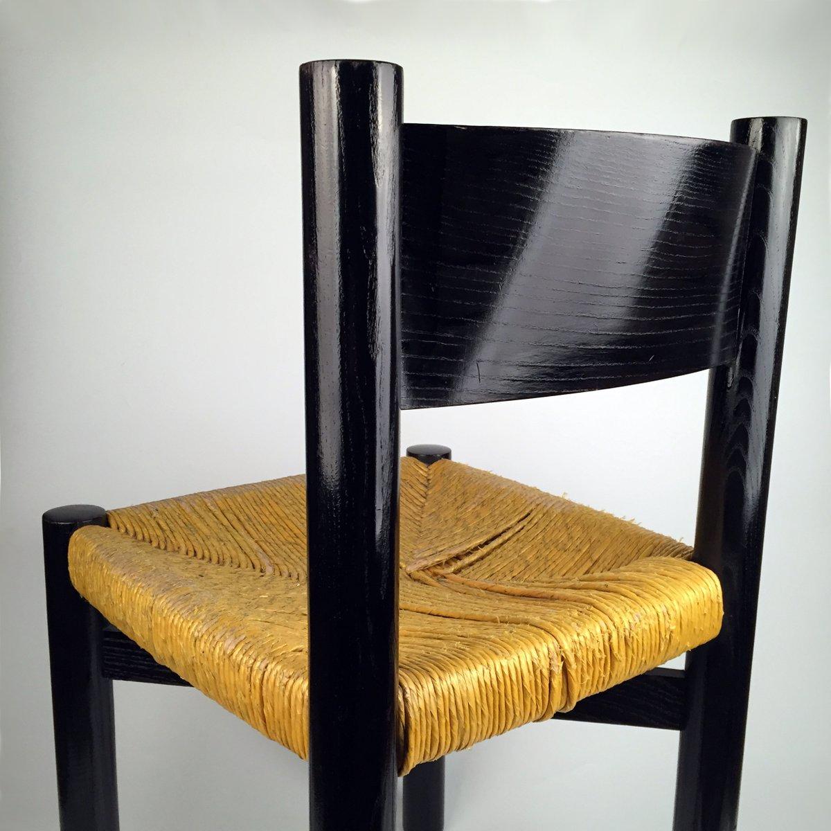 chaise mod le meribel vintage par charlotte perriand pour georges blanchon en vente sur pamono. Black Bedroom Furniture Sets. Home Design Ideas