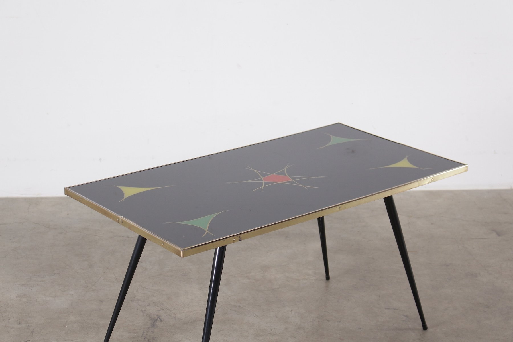 table basse vintage en verre noir en vente sur pamono. Black Bedroom Furniture Sets. Home Design Ideas